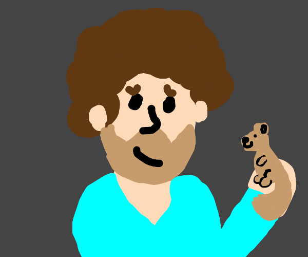 bob ross + his wholesome squirrel