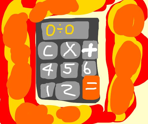 Dividing by zero makes calculator explode
