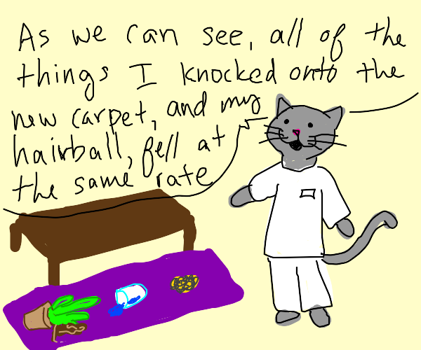 A cats science fair project
