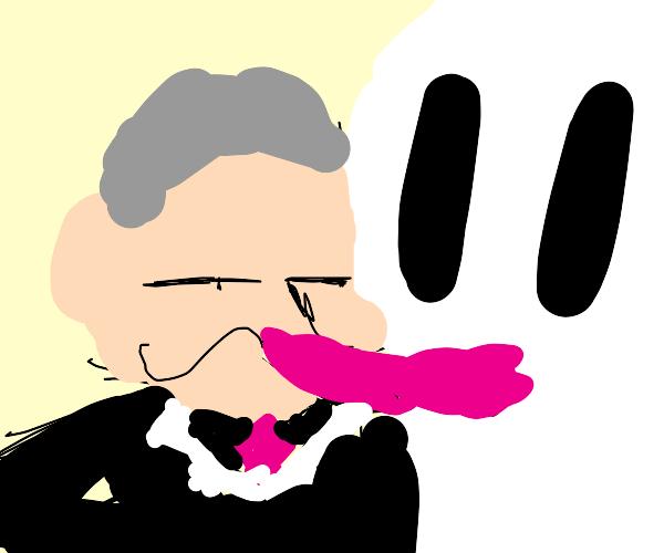 Putin kisses a ghost