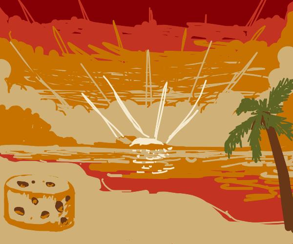 Cheese on the beach