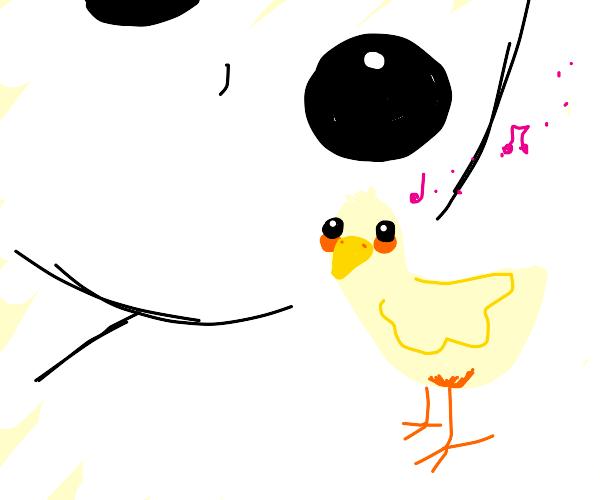 You've made Eye Contact with a bird. He sings