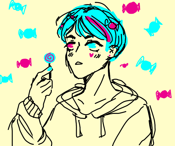 A sweet candy themed boy