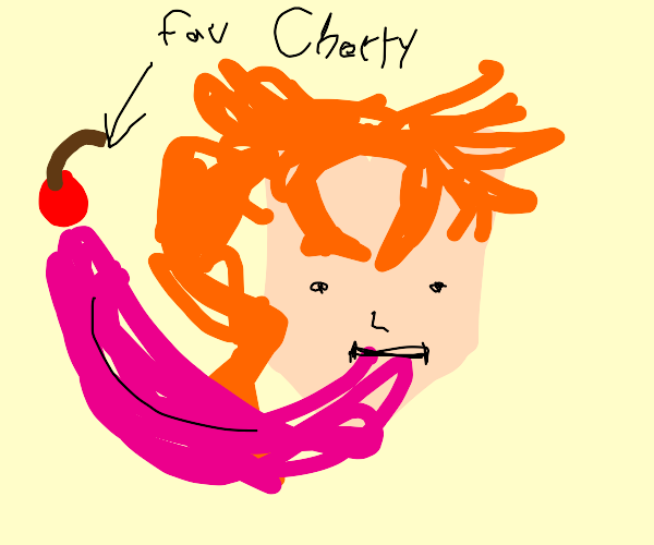 Kakyoin licking his favorite cherry