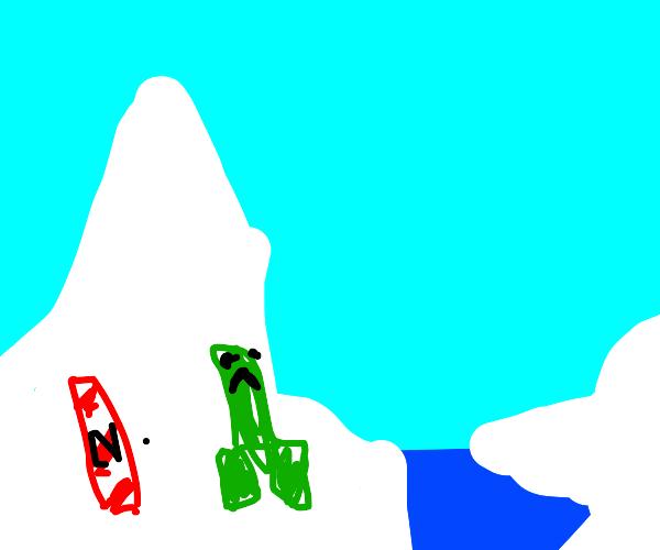Creeper on North Pole