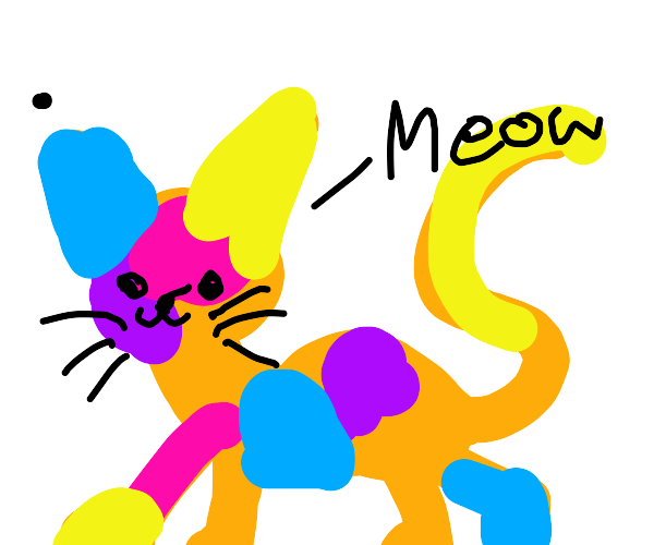 Brightly Colored Cat