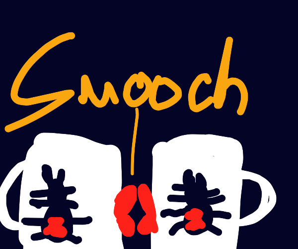 spider-mugs kissing