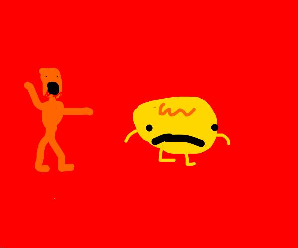 orange scp 096 chases Gene from emoji movie