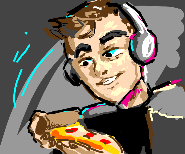 Gamer wins a slice of pizza