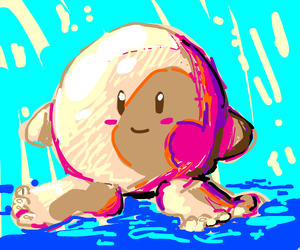 Kirby without shoes