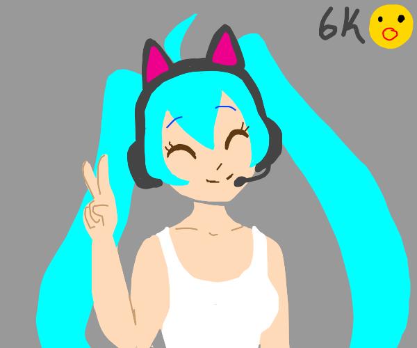 Miku gets 6k emotes