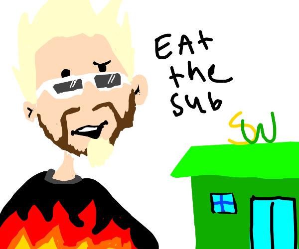 guy fieri wants YOU to eat a sub
