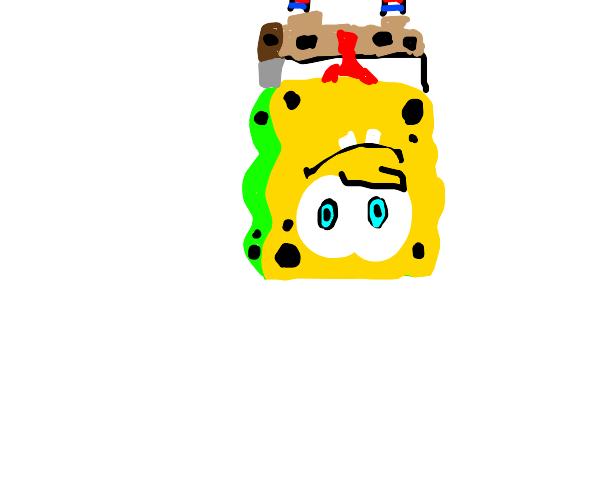 spongebob but upside down