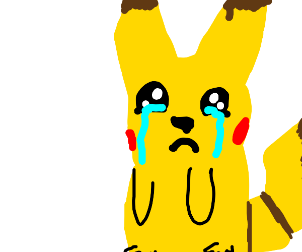 Pikachu crying