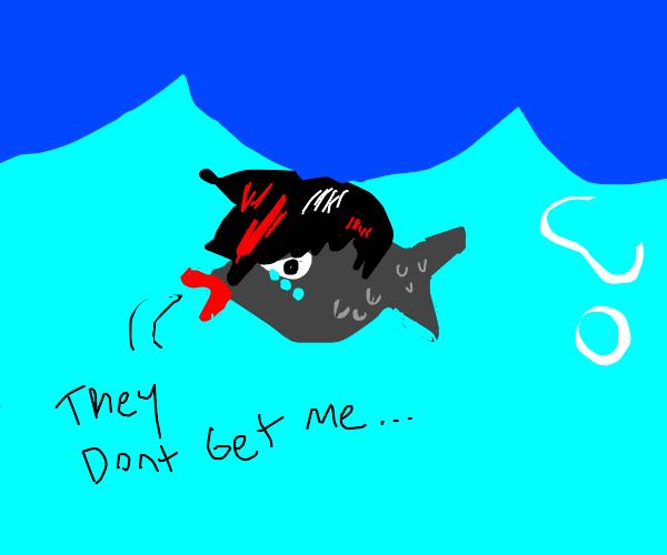Emo Fish Questions Itself