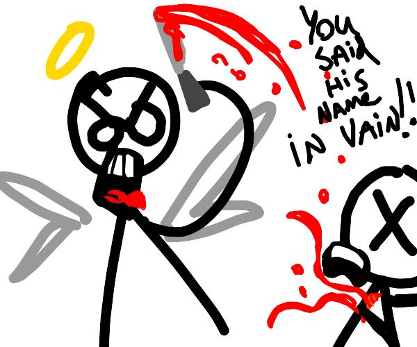 Angel kills man