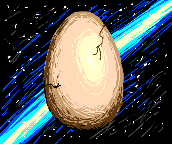 gigantic egg gets cracked in space