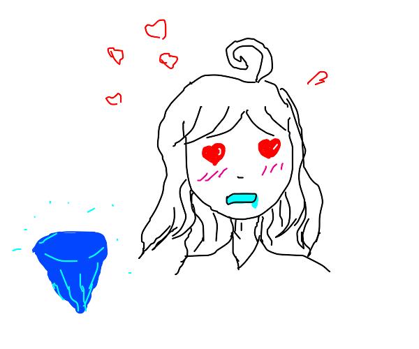 anime girl likes diamonds