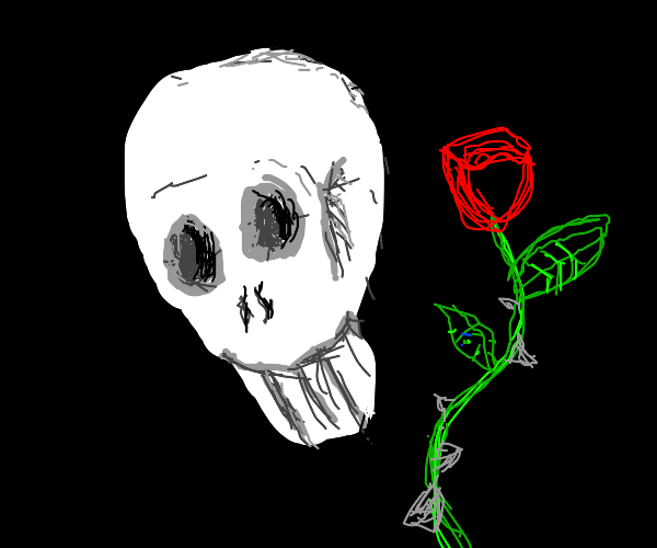 Dead guy with rose