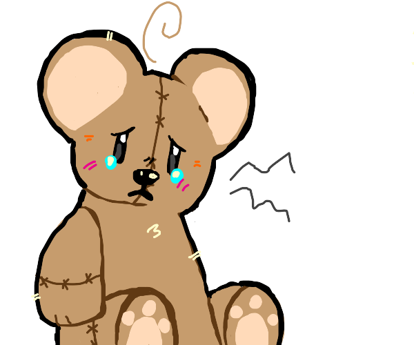 Crying teddy bear