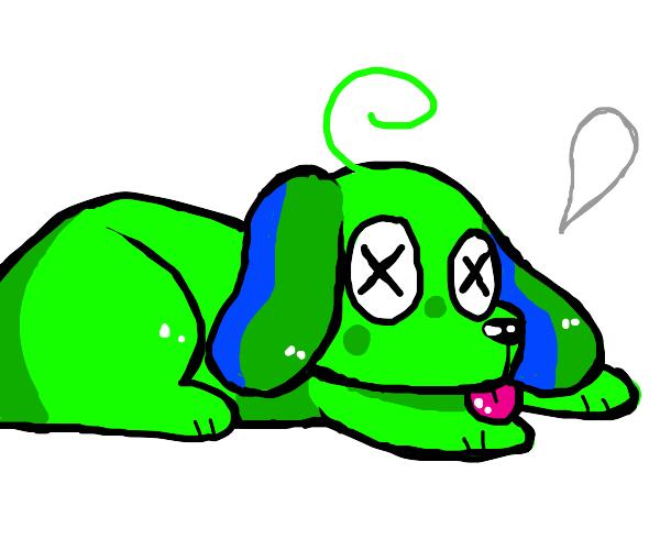 Green doggo is ded