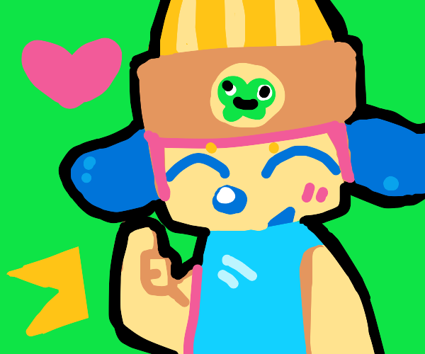 Parappa giving you a thumbs up