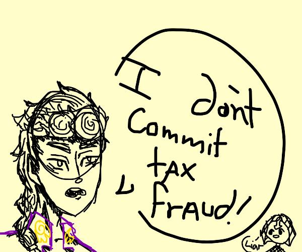 Giorno really commits tax fraud? No dignity.