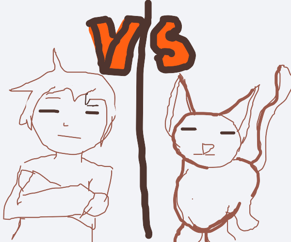 Indifferent man vs indifferent cat