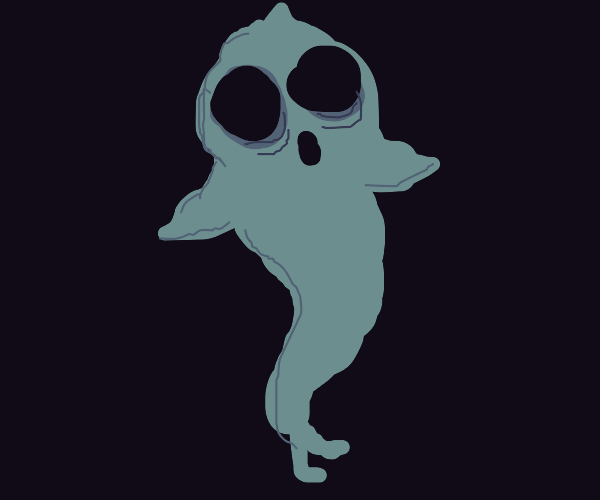 Screaming ghost with legs