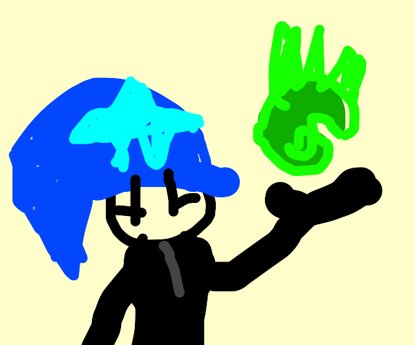 Witch holding green fireball