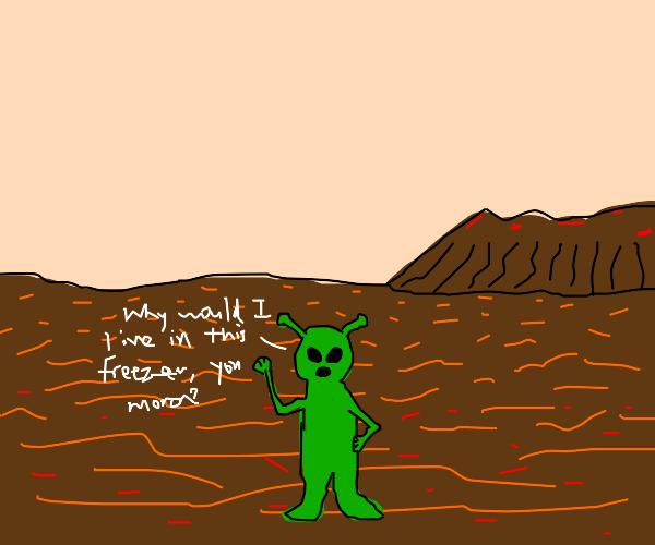 angry alien on mars