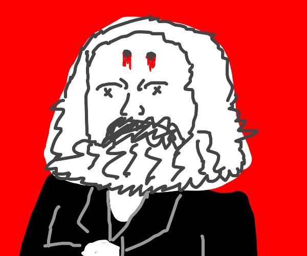 Karl Marx taking shots