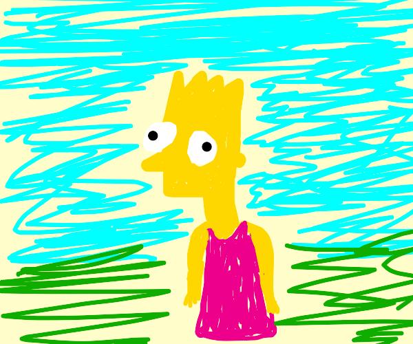 Bart wearing a dress