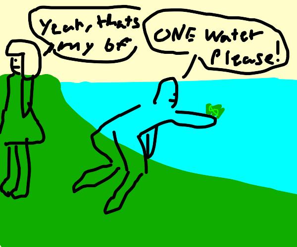 Boyfriend (FNF) trying to buy water