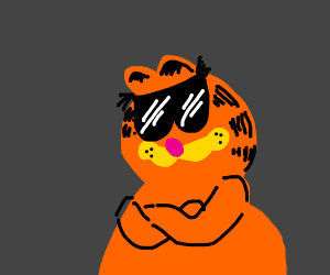 A cool version of Garfield
