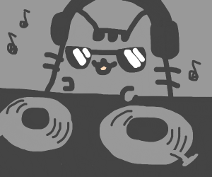 DJ Pusheen the cat