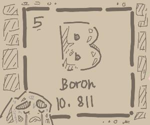 Periodic table boron is depressed