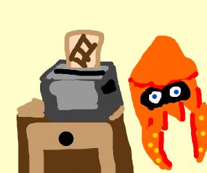 Splatoon making toast
