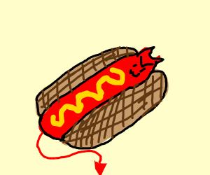 Devil hot dog