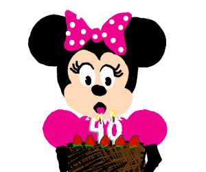 Minnie Mouse is 40 years old