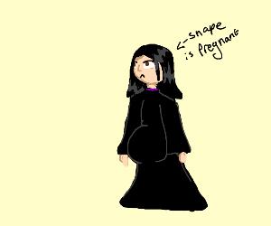 Professor Snape is pregnant, congrats...