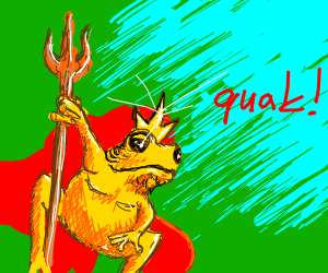 King frog says quak