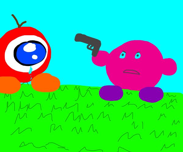 OH NO! KIRBY HAS A GUN!