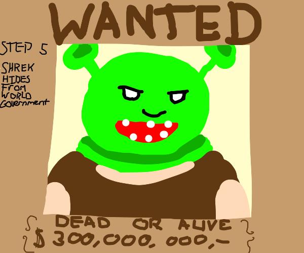 Frame Shrek for a crime. (Step 4)
