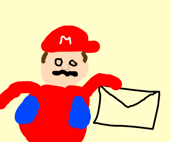 man with mustache giving a letter to you