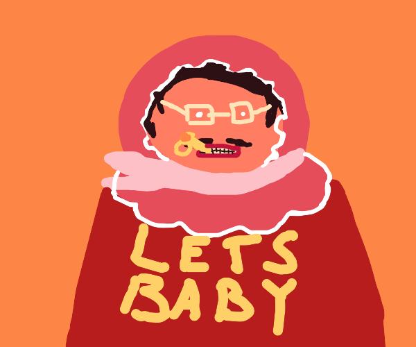 man baby with binkie