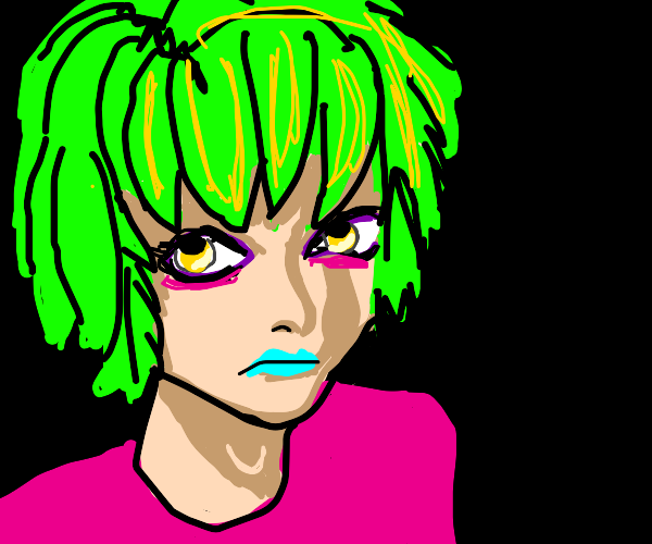 neon emo anime boy