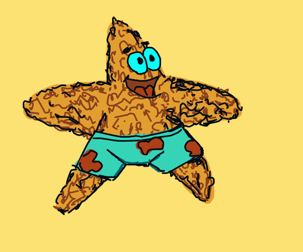 Patrick the Starfish, but dried up