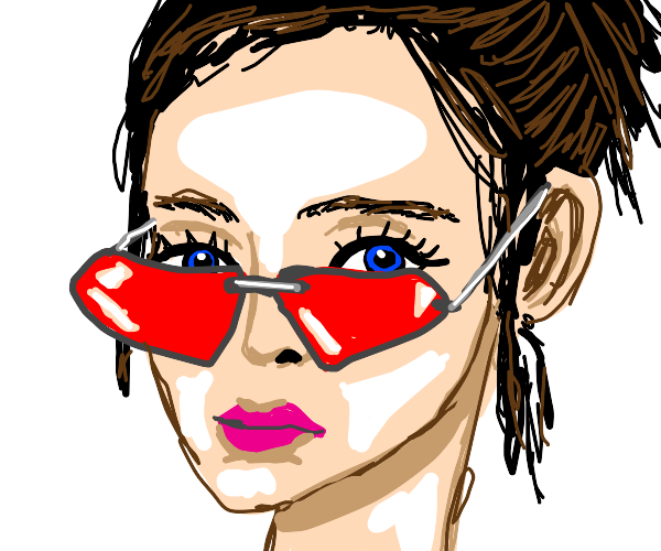 Lady with cool glasses