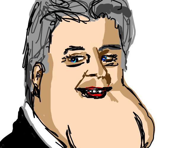 Jay Leno's massive chin